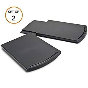"Multiuse Kitchen Caddy Sliding Coffee Maker Tray Mat,Countertop Storage for Blender Toaster Kitchen Appliances-12"" Premium BPA Free Base Sliding Shelf with Smooth Rolling Wheels